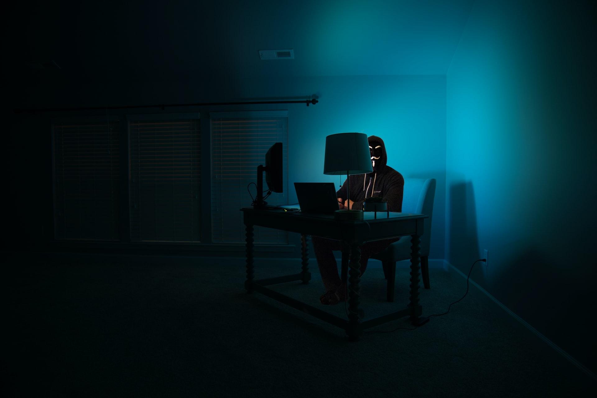 hooded hacker computers